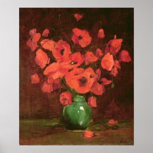 Florero de flores póster