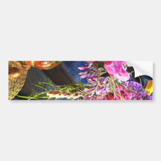 Florero de flores salvajes pegatina para auto