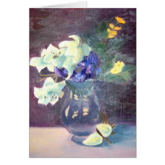 Florero de flores tarjeta pequeña