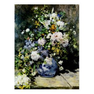 Florero de flores postales