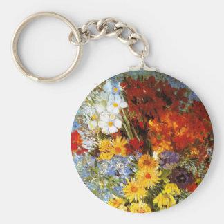 Florero de flores, Van Gogh Llavero Redondo Tipo Pin