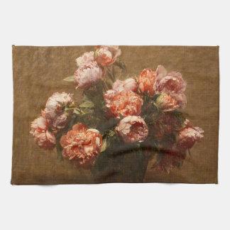Florero de Henri Fantin-Latour de la toalla de coc