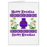 Florero de Kwanzaa Felicitación