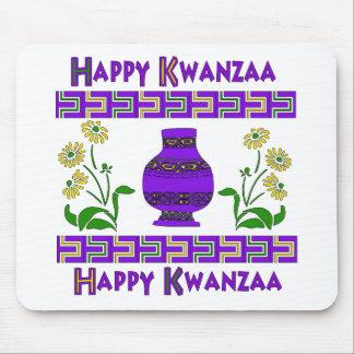 Florero de Kwanzaa Tapetes De Ratón