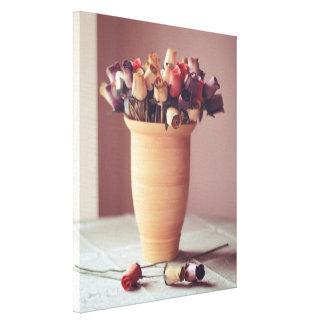 Florero de la impresión de la lona de las flores lona envuelta para galerias