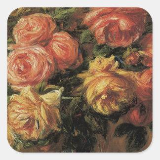 Florero de la O.N.U de Dans de los rosas de Les Pegatina Cuadrada