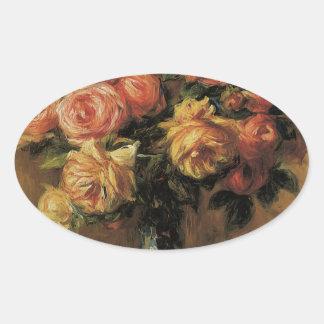 Florero de la O.N.U de Dans de los rosas de Les Pegatina Ovalada