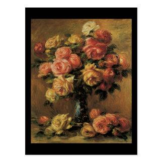 Florero de la O.N.U de Dans de los rosas de Renoir Tarjeta Postal