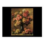 Florero de la O.N.U de Dans de los rosas de Renoir Tarjetas Postales