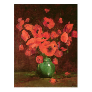 Florero de las flores 2 tarjetas postales