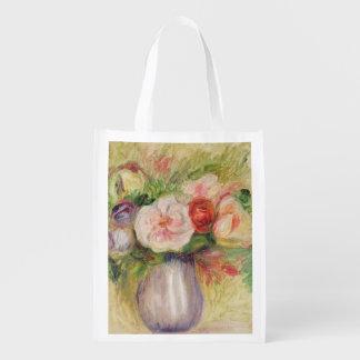Florero de las flores (aceite en lona) bolsas para la compra