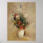 Florero de las flores, Odilon Redon Posters