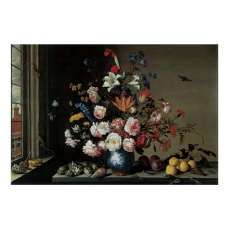 Florero de las flores por una ventana, Balthasar Posters