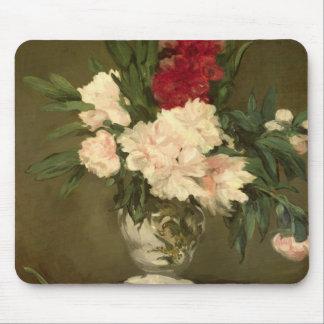Florero de Manet el | de Peonies en un pequeño Mouse Pad