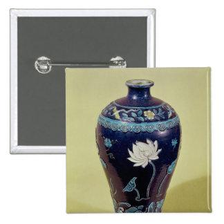 Florero de Ming con la decoración tricolor Pin