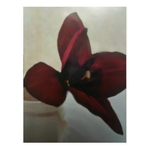 Florero de piedra tarjeta postal