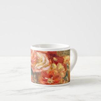 Florero de Renoir de bella arte de los rosas Taza Espresso