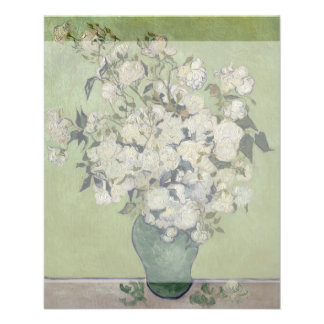 Florero de rosas de Vincent van Gogh Flyer A Todo Color