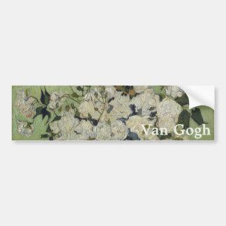 Florero de rosas de Vincent van Gogh Pegatina Para Auto