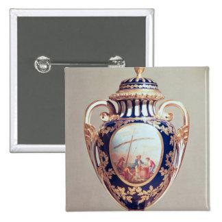 Florero de Sevres, mediados del siglo XVIII Pin Cuadrada 5 Cm