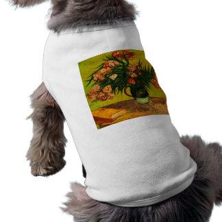 Florero de Van Gogh con arte floral de los Playera Sin Mangas Para Perro
