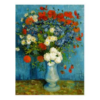 Florero de Van Gogh con Cornflowers y amapolas Tarjeta Postal