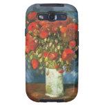 Florero de Van Gogh con el detalle rojo de las ama Samsung Galaxy S3 Carcasa