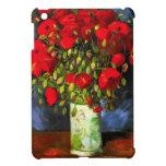 Florero de Van Gogh con el mini caso del iPad rojo iPad Mini Coberturas