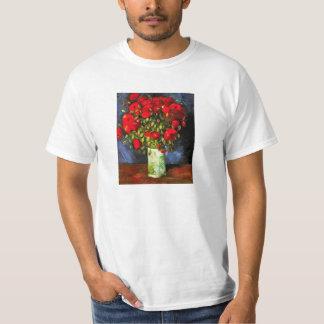 Florero de Van Gogh con la camiseta roja de las Playeras