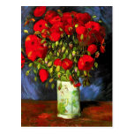 Florero de Van Gogh con la postal roja de las amap
