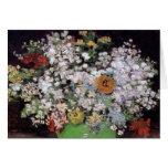 Florero de Van Gogh con la tarjeta de felicitación
