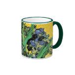 Florero de Van Gogh con la taza de los iris