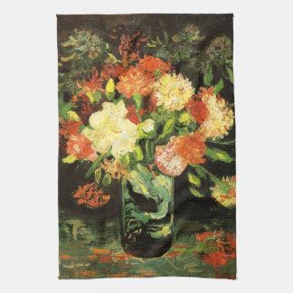 Florero de Van Gogh con la toalla de cocina de los