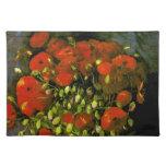 Florero de Van Gogh con las amapolas rojas (F279) Mantel