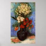 Florero de Van Gogh con los claveles y otras Posters