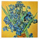 Florero de Van Gogh con los iris Tejas Ceramicas