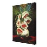 Florero de Van Gogh con los Peonies, flores floral Impresión En Lienzo Estirada