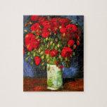 Florero de Van Gogh con rompecabezas rojo de las a