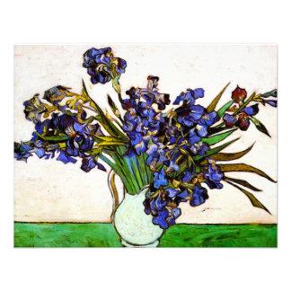 Florero de Van Gogh de invitaciones de los iris Comunicados