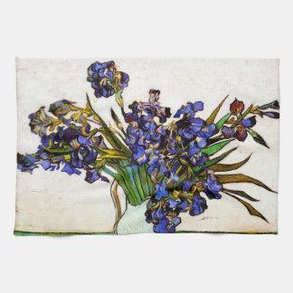 Florero de Van Gogh de iris Toallas