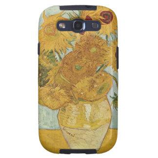 Florero de Vincent van Gogh con 12 girasoles Galaxy S3 Protector