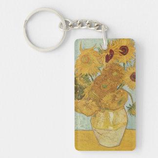 Florero de Vincent van Gogh con 12 girasoles Llavero
