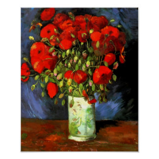 Florero de Vincent van Gogh con arte floral de las