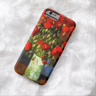 Florero de Vincent van Gogh con arte floral de las Funda De iPhone 6 Barely There