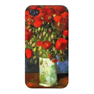 Florero de Vincent van Gogh con arte floral de las iPhone 4/4S Fundas