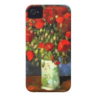 Florero de Vincent van Gogh con arte floral de las iPhone 4 Protector