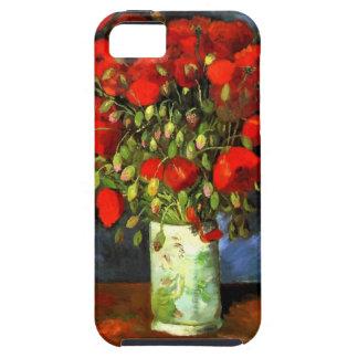 Florero de Vincent van Gogh con arte floral de las iPhone 5 Carcasa