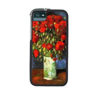 Florero de Vincent van Gogh con las amapolas rojas