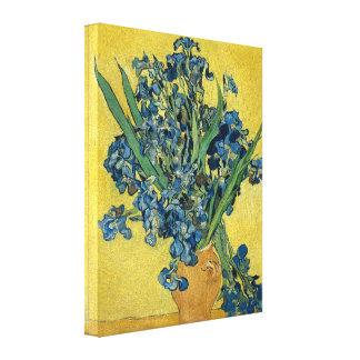 Florero de Vincent van Gogh con los iris Impresión En Lienzo