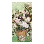 Florero de Vincent van Gogh con los rosas rosados